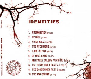 Identities album back